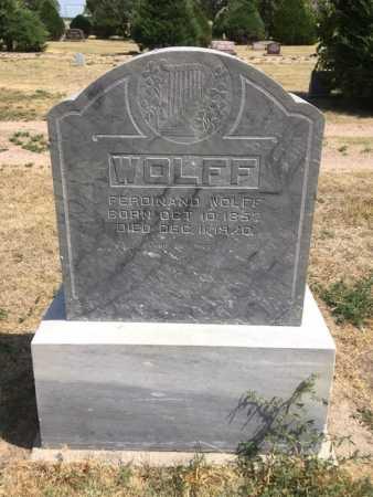 WOLFF, FERDINAND - Dawes County, Nebraska | FERDINAND WOLFF - Nebraska Gravestone Photos