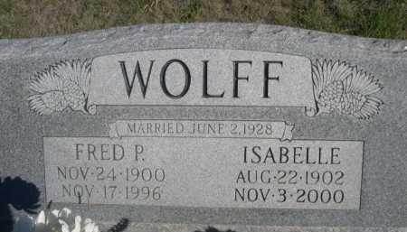 WOLFF, ISABELLE - Dawes County, Nebraska | ISABELLE WOLFF - Nebraska Gravestone Photos