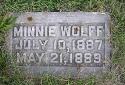 WOLFF, MINNIE - Dawes County, Nebraska | MINNIE WOLFF - Nebraska Gravestone Photos