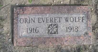 WOLFF, ORIN EVERET - Dawes County, Nebraska   ORIN EVERET WOLFF - Nebraska Gravestone Photos