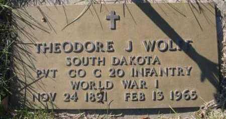 WOLFF, THEODORE J. - Dawes County, Nebraska | THEODORE J. WOLFF - Nebraska Gravestone Photos