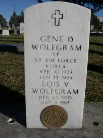 WOLFGRAM, LOIS V. - Dawes County, Nebraska   LOIS V. WOLFGRAM - Nebraska Gravestone Photos