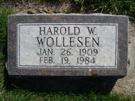 WOLLESEN, HAROLD W. - Dawes County, Nebraska | HAROLD W. WOLLESEN - Nebraska Gravestone Photos