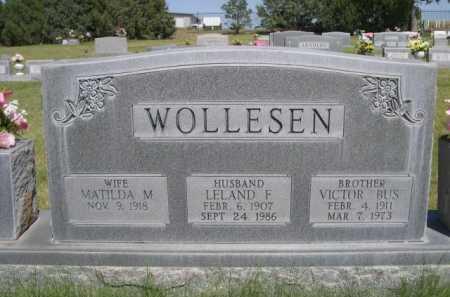 WOLLESEN, LELAND F. - Dawes County, Nebraska | LELAND F. WOLLESEN - Nebraska Gravestone Photos