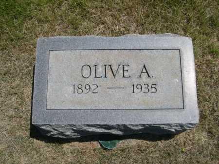 WOLLESEN, OLIVE A. - Dawes County, Nebraska | OLIVE A. WOLLESEN - Nebraska Gravestone Photos