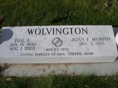 WOLVINGTON, IVAL L. - Dawes County, Nebraska | IVAL L. WOLVINGTON - Nebraska Gravestone Photos