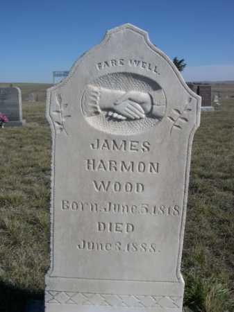 WOOD, JAMES HARMON - Dawes County, Nebraska | JAMES HARMON WOOD - Nebraska Gravestone Photos