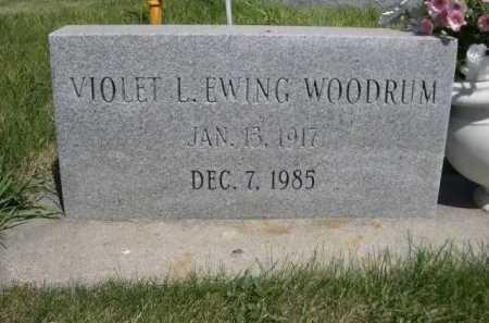 WOODRUM, VIOLET L. EWING - Dawes County, Nebraska | VIOLET L. EWING WOODRUM - Nebraska Gravestone Photos