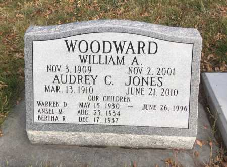JONES WOODWARD, AUDREY C. - Dawes County, Nebraska | AUDREY C. JONES WOODWARD - Nebraska Gravestone Photos