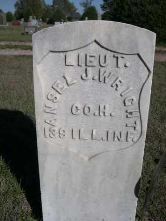 WRIGHT, ANSEL J. - Dawes County, Nebraska | ANSEL J. WRIGHT - Nebraska Gravestone Photos