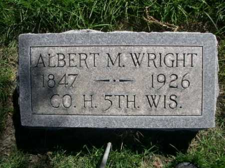 WRIGHT, ALBERT M. - Dawes County, Nebraska | ALBERT M. WRIGHT - Nebraska Gravestone Photos