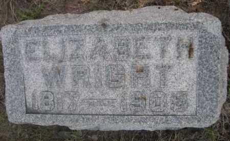 WRIGHT, ELIZABETH - Dawes County, Nebraska   ELIZABETH WRIGHT - Nebraska Gravestone Photos