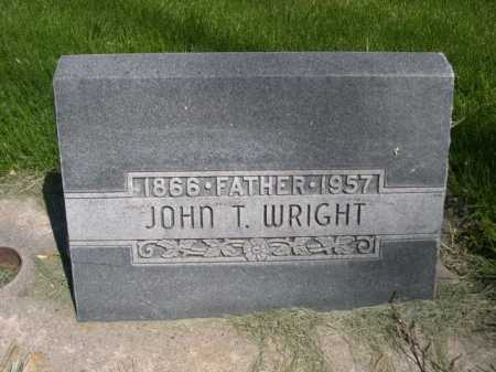 WRIGHT, JOHN T. - Dawes County, Nebraska | JOHN T. WRIGHT - Nebraska Gravestone Photos