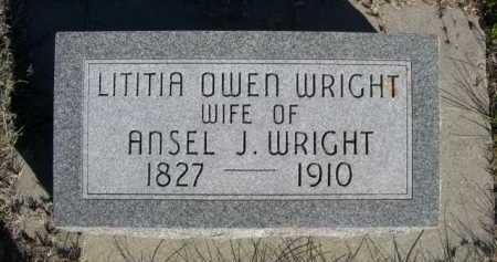 WRIGHT, LITITIA - Dawes County, Nebraska | LITITIA WRIGHT - Nebraska Gravestone Photos