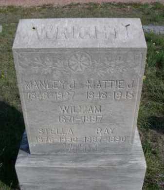 WRIGHT, MANLEY J. - Dawes County, Nebraska | MANLEY J. WRIGHT - Nebraska Gravestone Photos