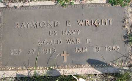 WRIGHT, RAYMOND E. - Dawes County, Nebraska | RAYMOND E. WRIGHT - Nebraska Gravestone Photos