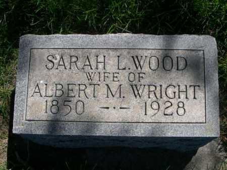 WOOD WRIGHT, SARAH L. - Dawes County, Nebraska | SARAH L. WOOD WRIGHT - Nebraska Gravestone Photos