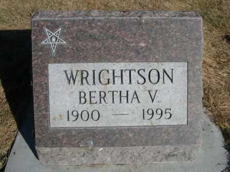 WRIGHTSON, BERTA V. - Dawes County, Nebraska | BERTA V. WRIGHTSON - Nebraska Gravestone Photos