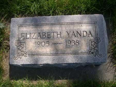 YANDA, ELIZABETH - Dawes County, Nebraska | ELIZABETH YANDA - Nebraska Gravestone Photos