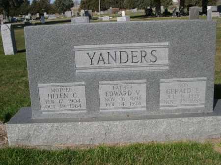 YANDERS, EDWARD W. - Dawes County, Nebraska | EDWARD W. YANDERS - Nebraska Gravestone Photos