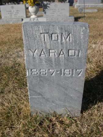 YARADI, TOM - Dawes County, Nebraska   TOM YARADI - Nebraska Gravestone Photos