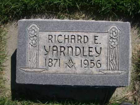 YARNDLEY, RICHARD F. - Dawes County, Nebraska | RICHARD F. YARNDLEY - Nebraska Gravestone Photos