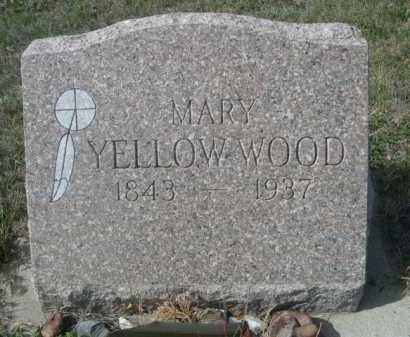 YELLOW WOOD, MARY - Dawes County, Nebraska | MARY YELLOW WOOD - Nebraska Gravestone Photos