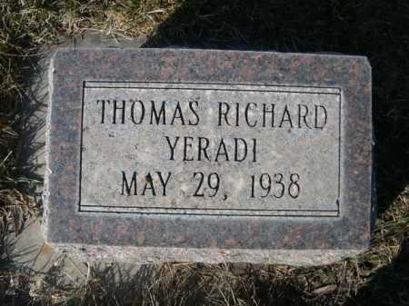 YERADI, THOMAS RICHARD - Dawes County, Nebraska | THOMAS RICHARD YERADI - Nebraska Gravestone Photos