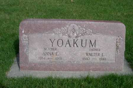YOAKUM, WALTER L. - Dawes County, Nebraska | WALTER L. YOAKUM - Nebraska Gravestone Photos