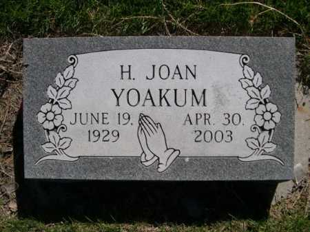 YOAKUM, H. JOAN - Dawes County, Nebraska | H. JOAN YOAKUM - Nebraska Gravestone Photos