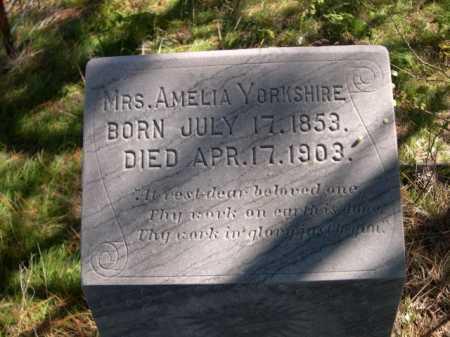 YORKSHIRE, AMELIA - Dawes County, Nebraska | AMELIA YORKSHIRE - Nebraska Gravestone Photos