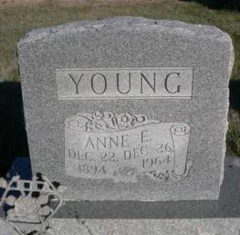 YOUNG, ANNE E. - Dawes County, Nebraska | ANNE E. YOUNG - Nebraska Gravestone Photos
