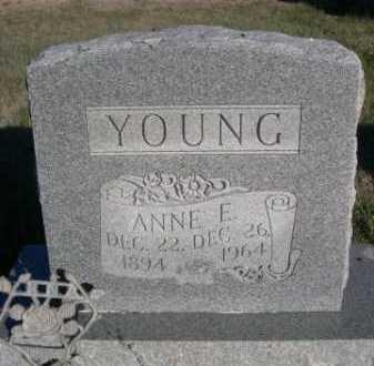 YOUNG, ANNE E. - Dawes County, Nebraska | ANNE E. YOUNG - Nebraska Gravestone Photos