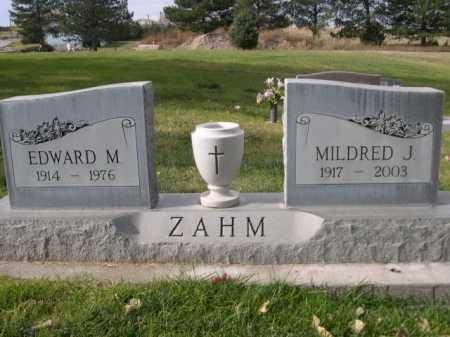 ZAHM, EDWARD M. - Dawes County, Nebraska | EDWARD M. ZAHM - Nebraska Gravestone Photos