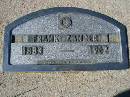 ZANDER, FRANK - Dawes County, Nebraska   FRANK ZANDER - Nebraska Gravestone Photos
