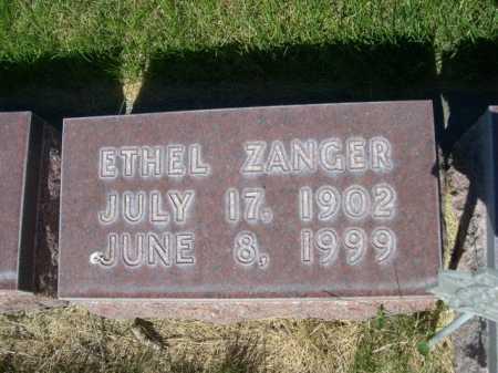 ZANGER, ETHEL - Dawes County, Nebraska   ETHEL ZANGER - Nebraska Gravestone Photos