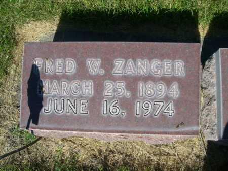ZANGER, FRED W. - Dawes County, Nebraska | FRED W. ZANGER - Nebraska Gravestone Photos