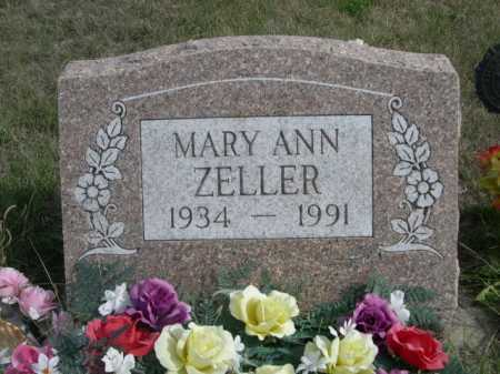 ZELLER, MARY ANN - Dawes County, Nebraska | MARY ANN ZELLER - Nebraska Gravestone Photos