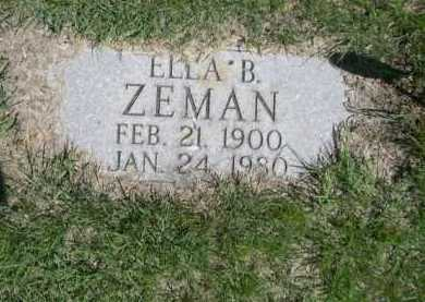 ZEMAN, ELLA B. - Dawes County, Nebraska   ELLA B. ZEMAN - Nebraska Gravestone Photos