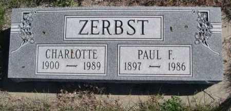 ZERBST, CHARLOTTE - Dawes County, Nebraska | CHARLOTTE ZERBST - Nebraska Gravestone Photos