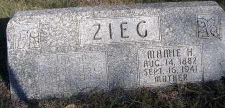 ZIEG, MAMIE H. - Dawes County, Nebraska | MAMIE H. ZIEG - Nebraska Gravestone Photos