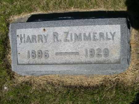 ZIMMERLY, HARRY R. - Dawes County, Nebraska | HARRY R. ZIMMERLY - Nebraska Gravestone Photos