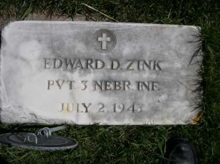 ZINK, EDWARD D. - Dawes County, Nebraska   EDWARD D. ZINK - Nebraska Gravestone Photos