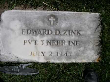 ZINK, EDWARD D. - Dawes County, Nebraska | EDWARD D. ZINK - Nebraska Gravestone Photos