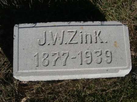 ZINK, J. W. - Dawes County, Nebraska | J. W. ZINK - Nebraska Gravestone Photos
