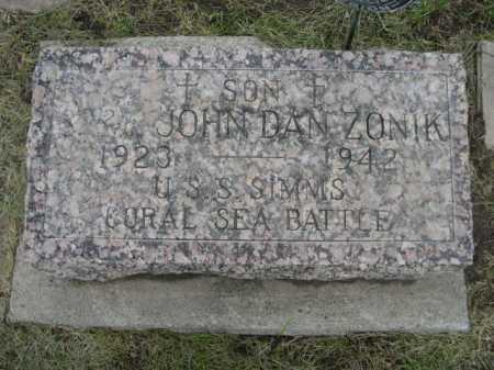 ZONIK, JOHN DAN - Dawes County, Nebraska | JOHN DAN ZONIK - Nebraska Gravestone Photos