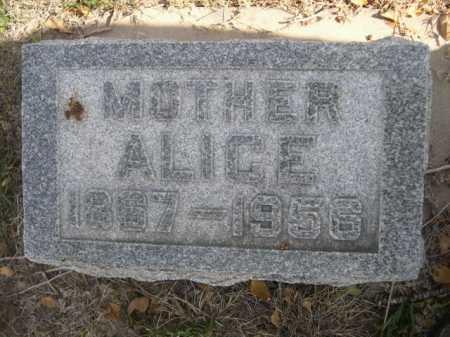 ZUBAR, ALICE - Dawes County, Nebraska | ALICE ZUBAR - Nebraska Gravestone Photos