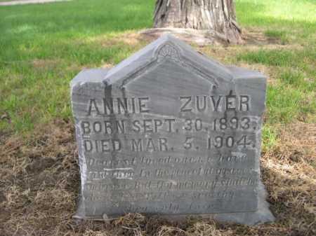ZUVER, ANNIE - Dawes County, Nebraska | ANNIE ZUVER - Nebraska Gravestone Photos