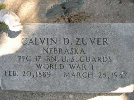 ZUVER, CALVIN D. - Dawes County, Nebraska | CALVIN D. ZUVER - Nebraska Gravestone Photos