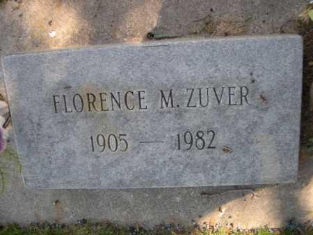 ZUVER, FLORENCE M. - Dawes County, Nebraska   FLORENCE M. ZUVER - Nebraska Gravestone Photos